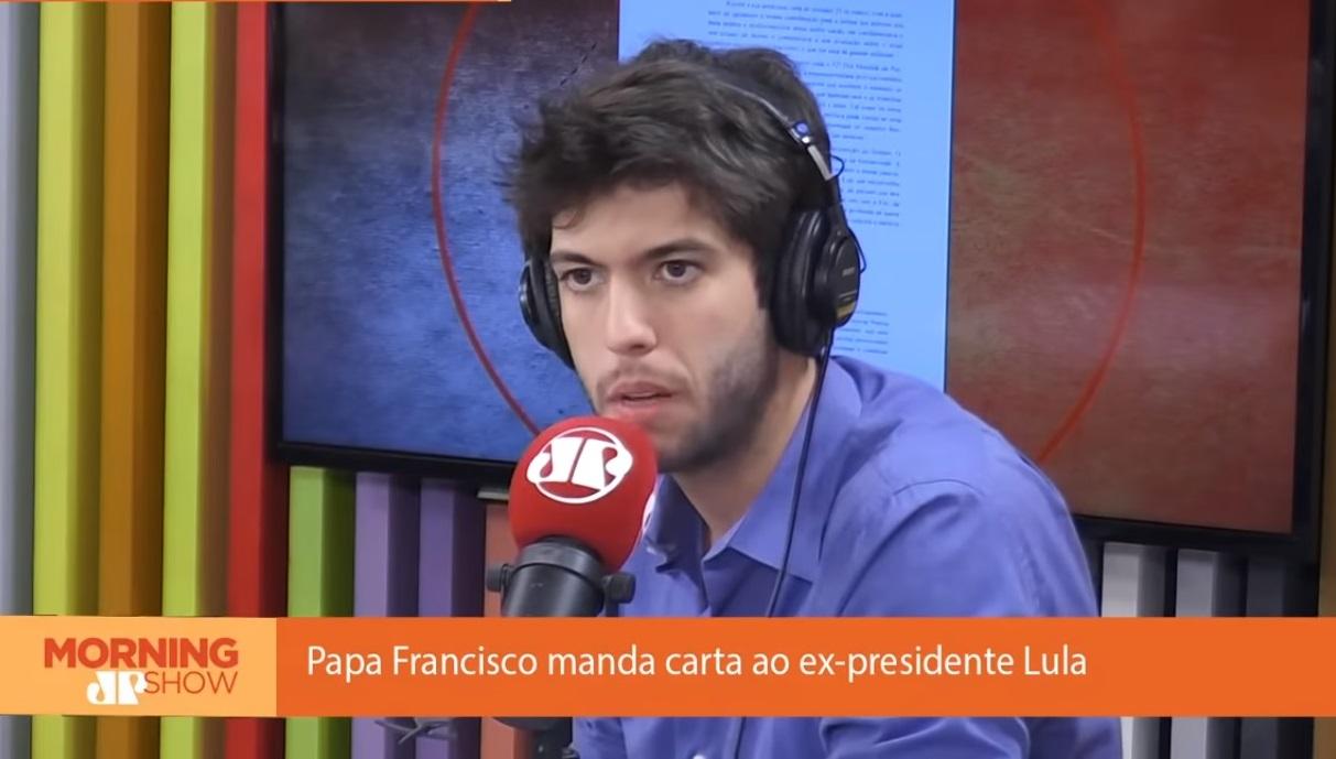 Caio Coppolla critica carta do papa a Lula:
