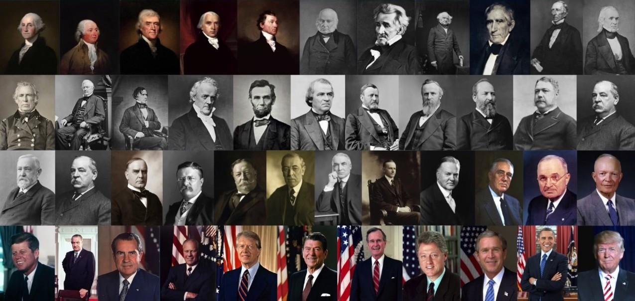 Além de Trump, quase todos os presidentes americanos eram cristãos