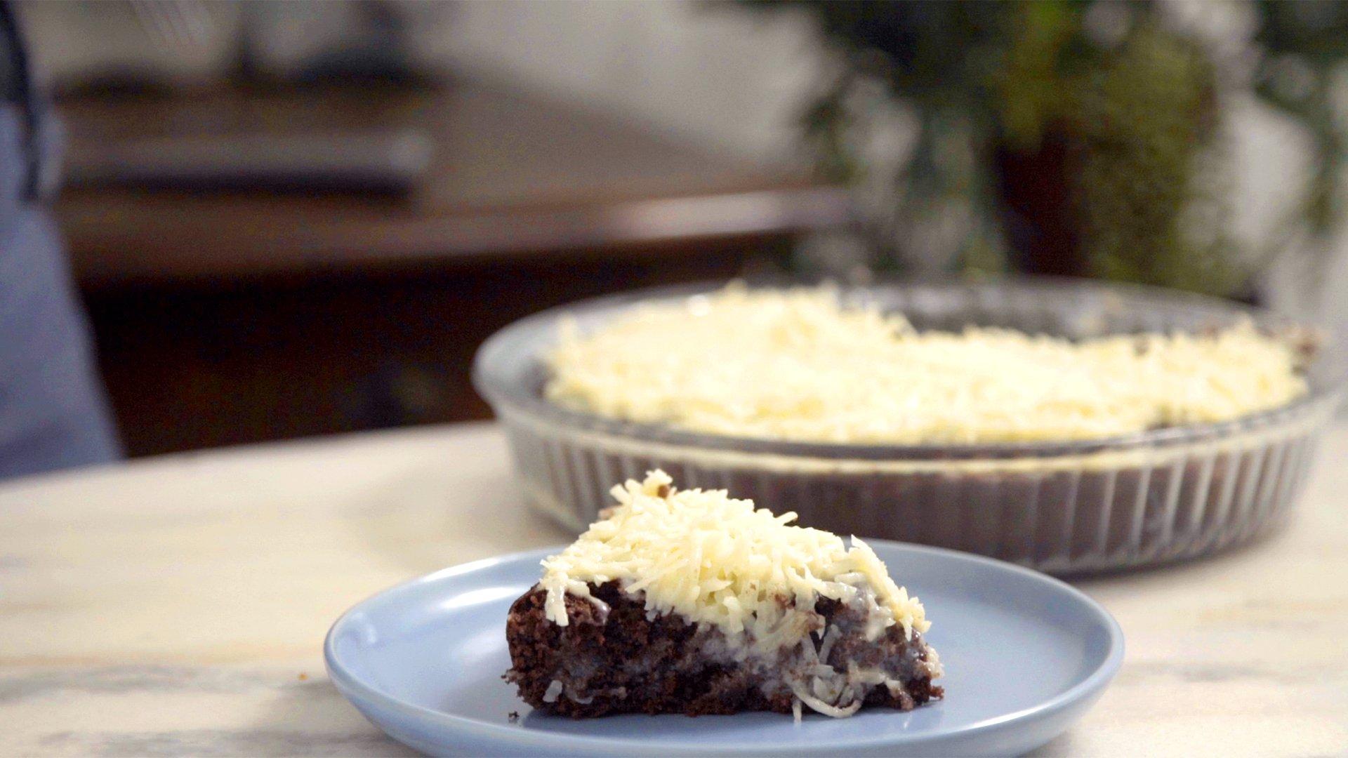 Bolo de chocolate e coco