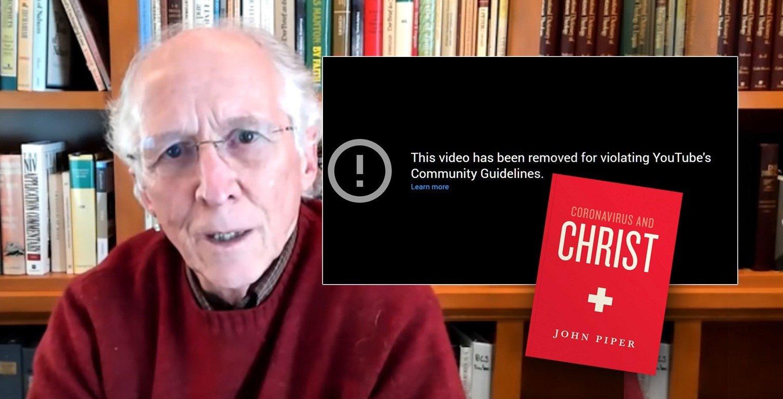"""YouTube remove audiolivro de John Piper sobre o coronavírus por """"violação de padrões"""""""