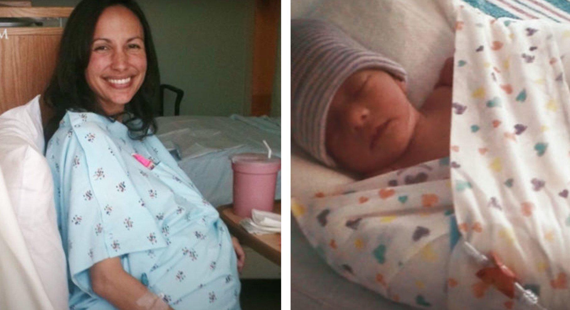 Grávida com grande tumor no útero manteve o bebê por causa da promessa de Deus