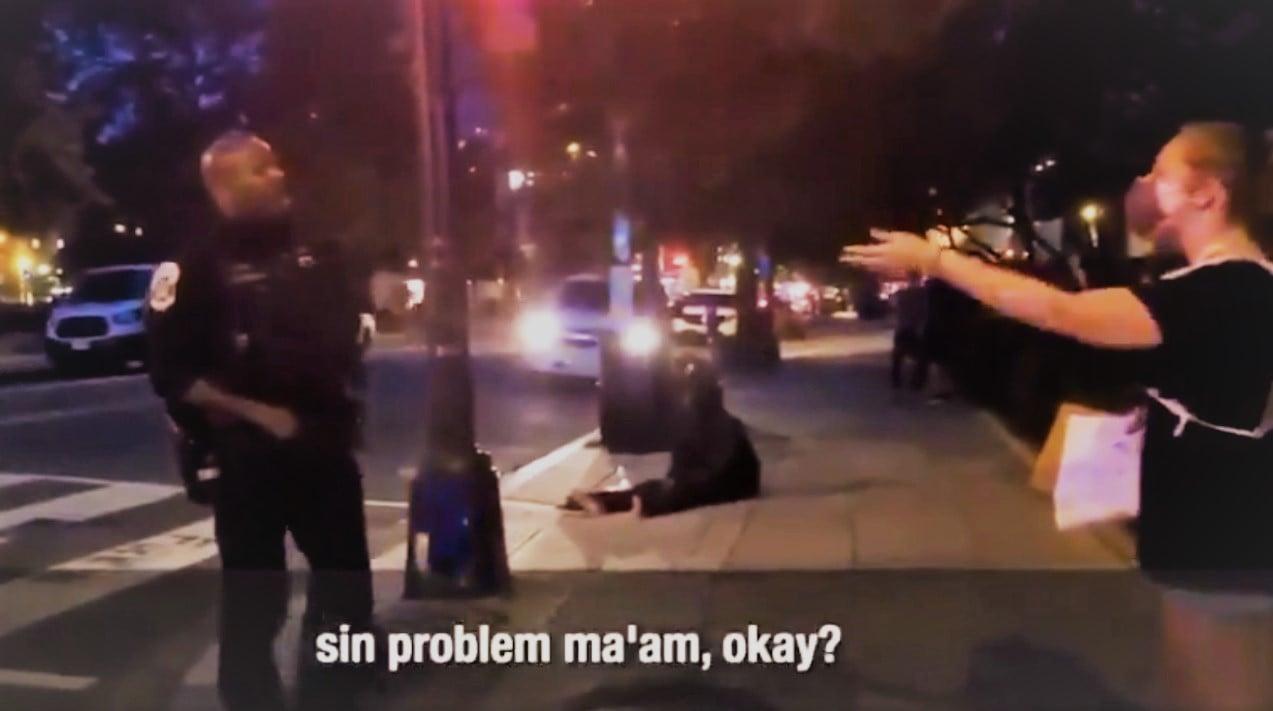Policial 'prega' e exorta ativista em meio a protesto nos EUA: 'Jesus é o caminho'