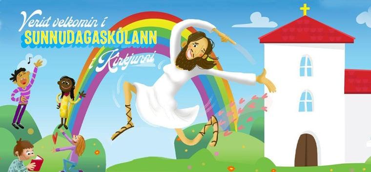 Igreja da Islândia gera indignação ao retratar Jesus como trans em campanha infantil