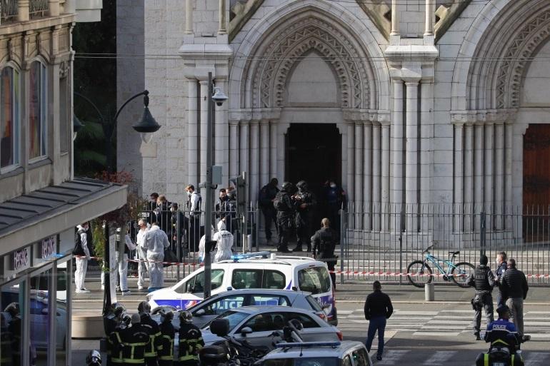 Ataque terrorista em igreja na França deixa três mortos