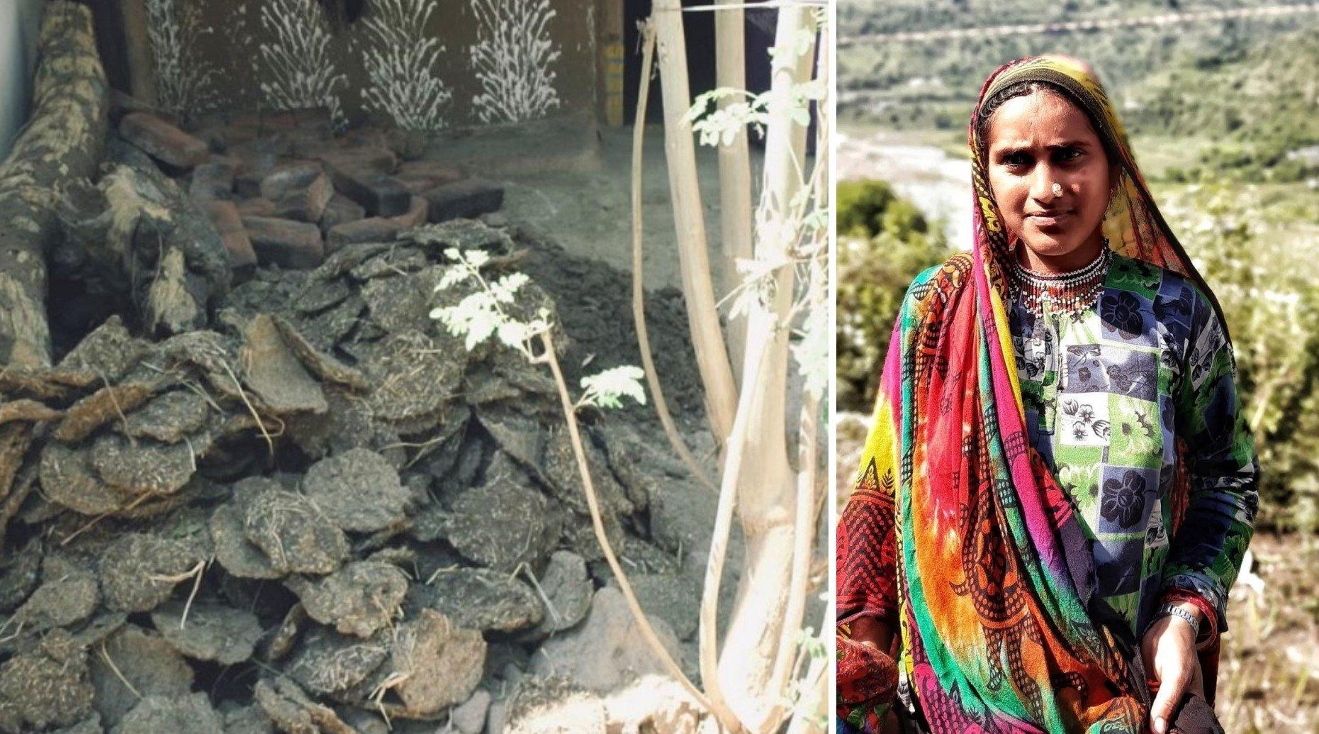 Para ajudar família, esposas de pastores vendem esterco de porta em porta na Índia