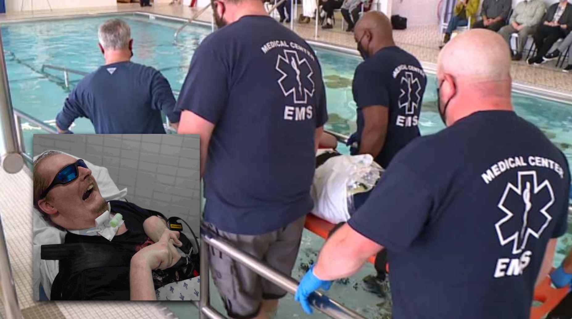 Homem paralisado há 15 anos é batizado com ajuda de familiares e amigos