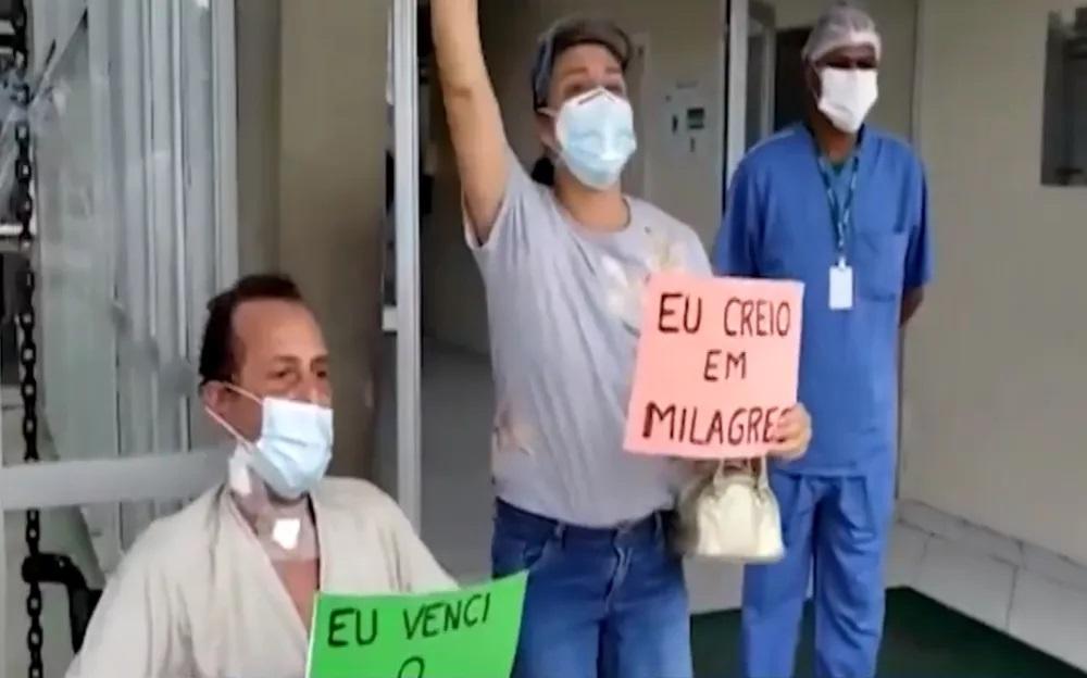 'Deus faz milagre', diz homem curado de Covid-19 após 70 dias internado em estado grave