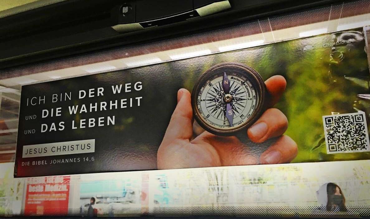 Versículos bíblicos publicados durante 50 anos podem ser proibidos em trens da Alemanha