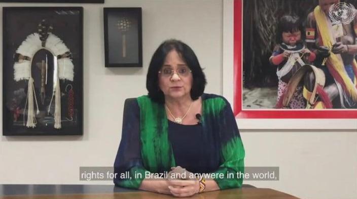 Damares Alves defende 'vida desde a concepção' em discurso na ONU