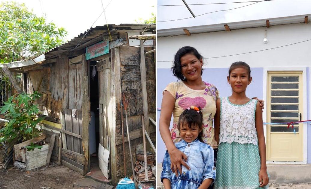 """""""Evangelho na prática"""": Igreja celebra aniversário tirando família de barracão"""