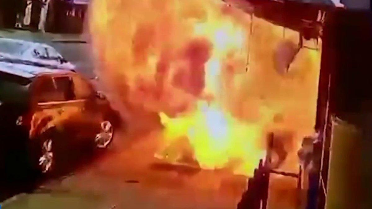 """Homem sobrevive à explosão e amigos reconhecem milagre: """"Deus o tirou do fogo"""""""
