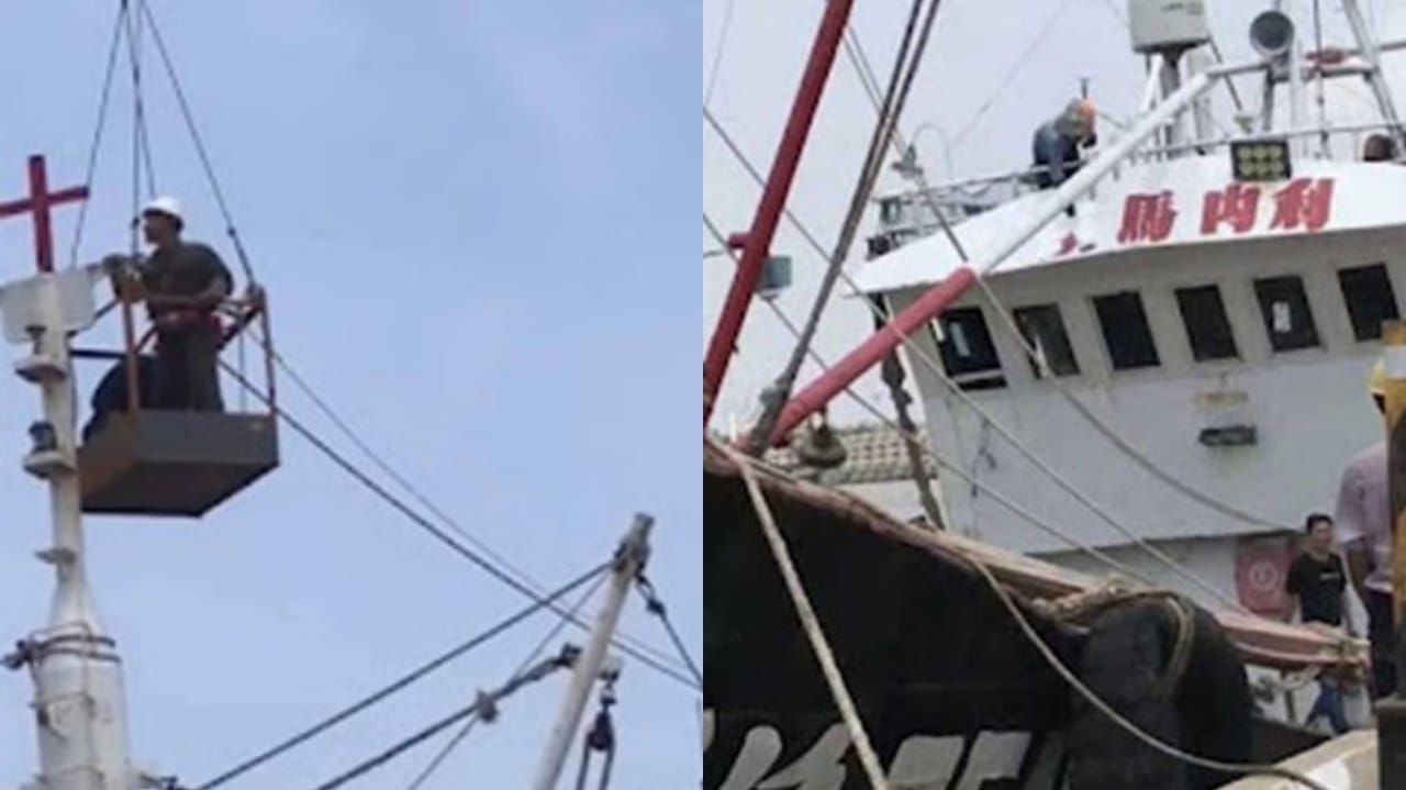 China remove cruzes dos barcos de pescadores cristãos e ameaça proibir pesca