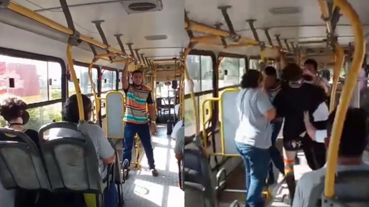 Pregador é agredido por mulher durante evangelismo em ônibus